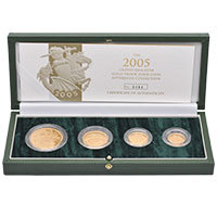 2005 4-Coin Gold Sovereign Proof Set