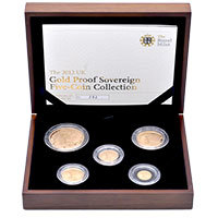 2012 Gold Proof 5-coin Sovereign set
