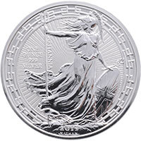 2019 Silver One Ounce Britannia : Oriental Border