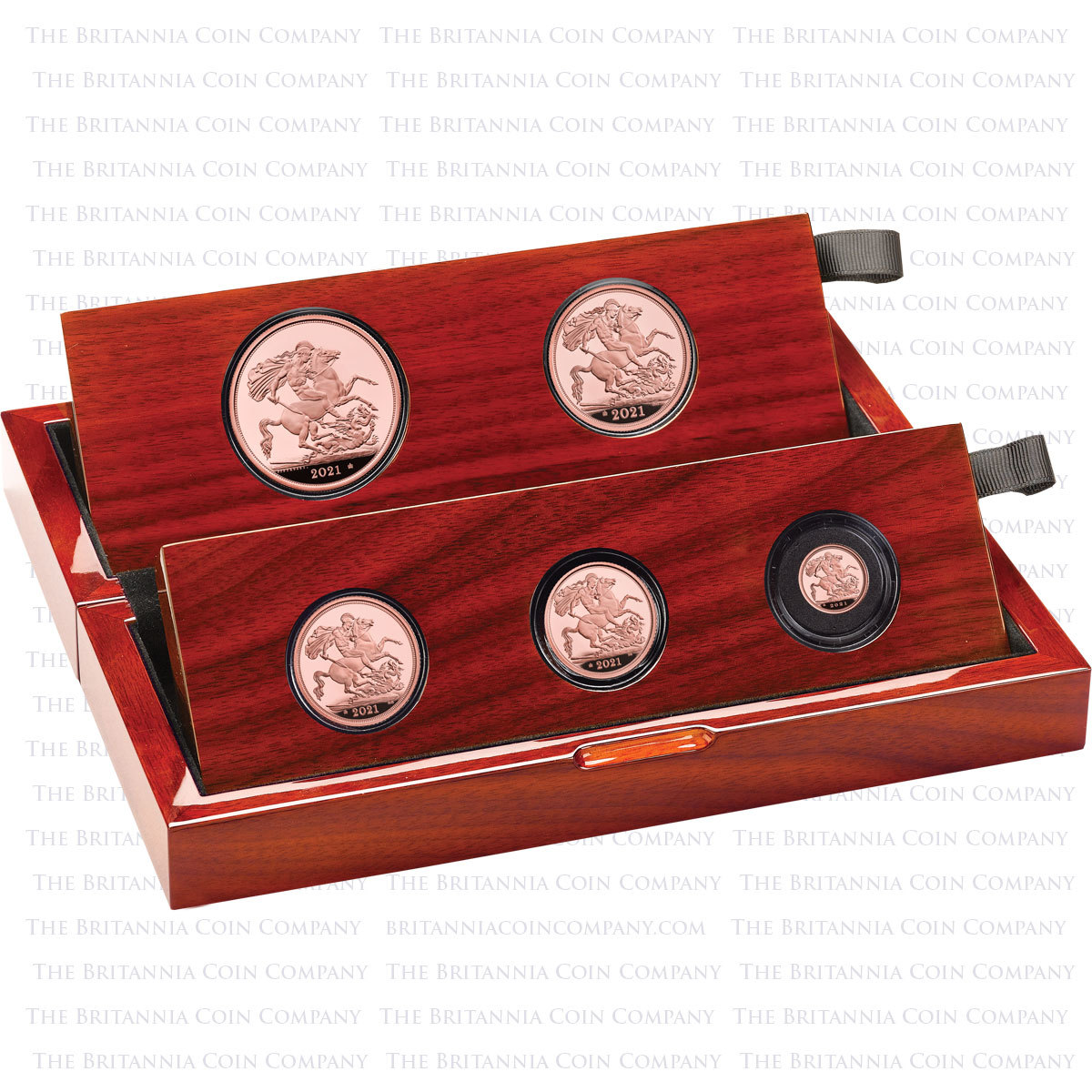 Royal Mint 2021 Five Coin Proof Sovereign Set