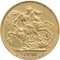 1878M Full Gold Sovereign