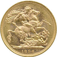 1896 Queen Victoria Gold Sovereign