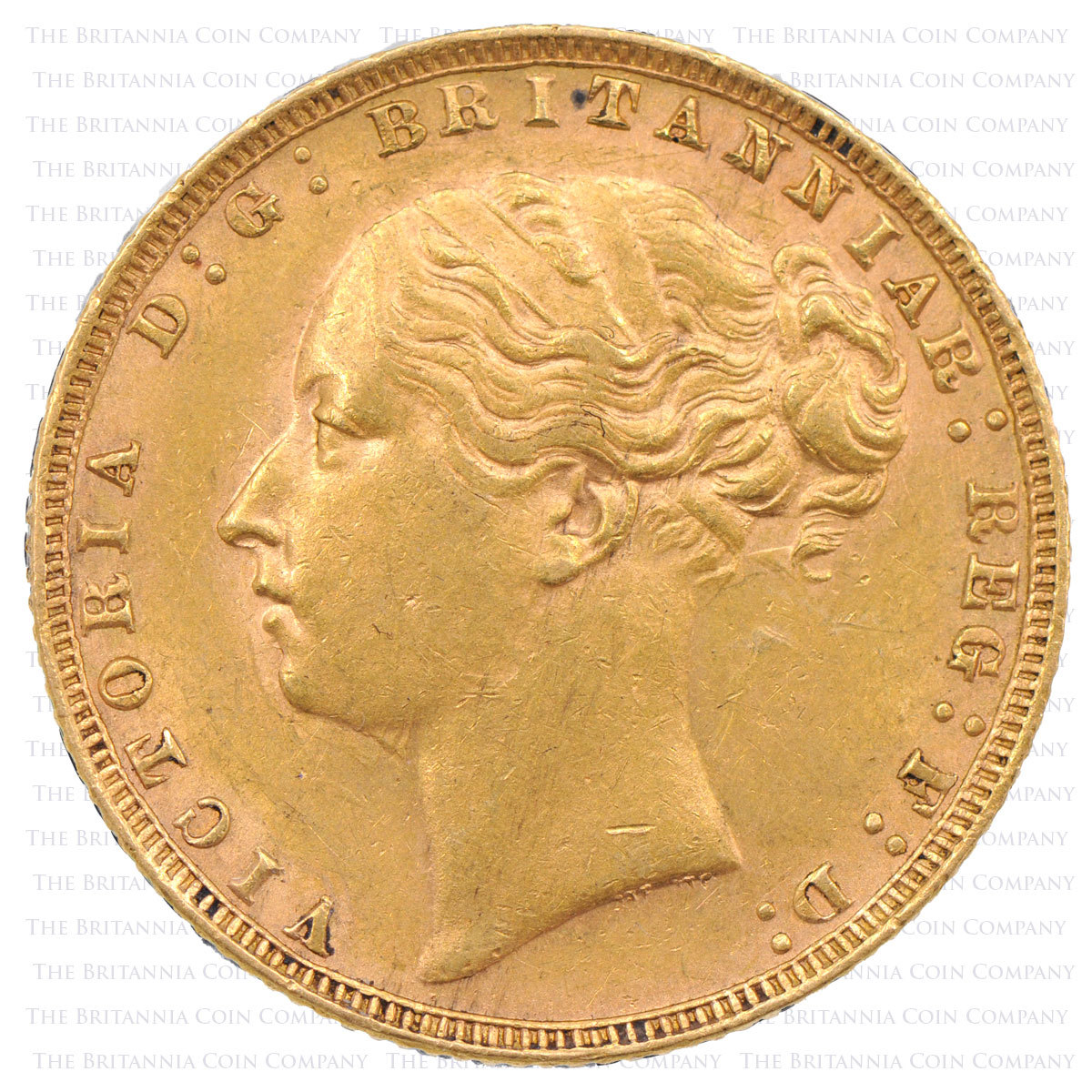 1876 Queen Victoria Gold Full Sovereign obverse