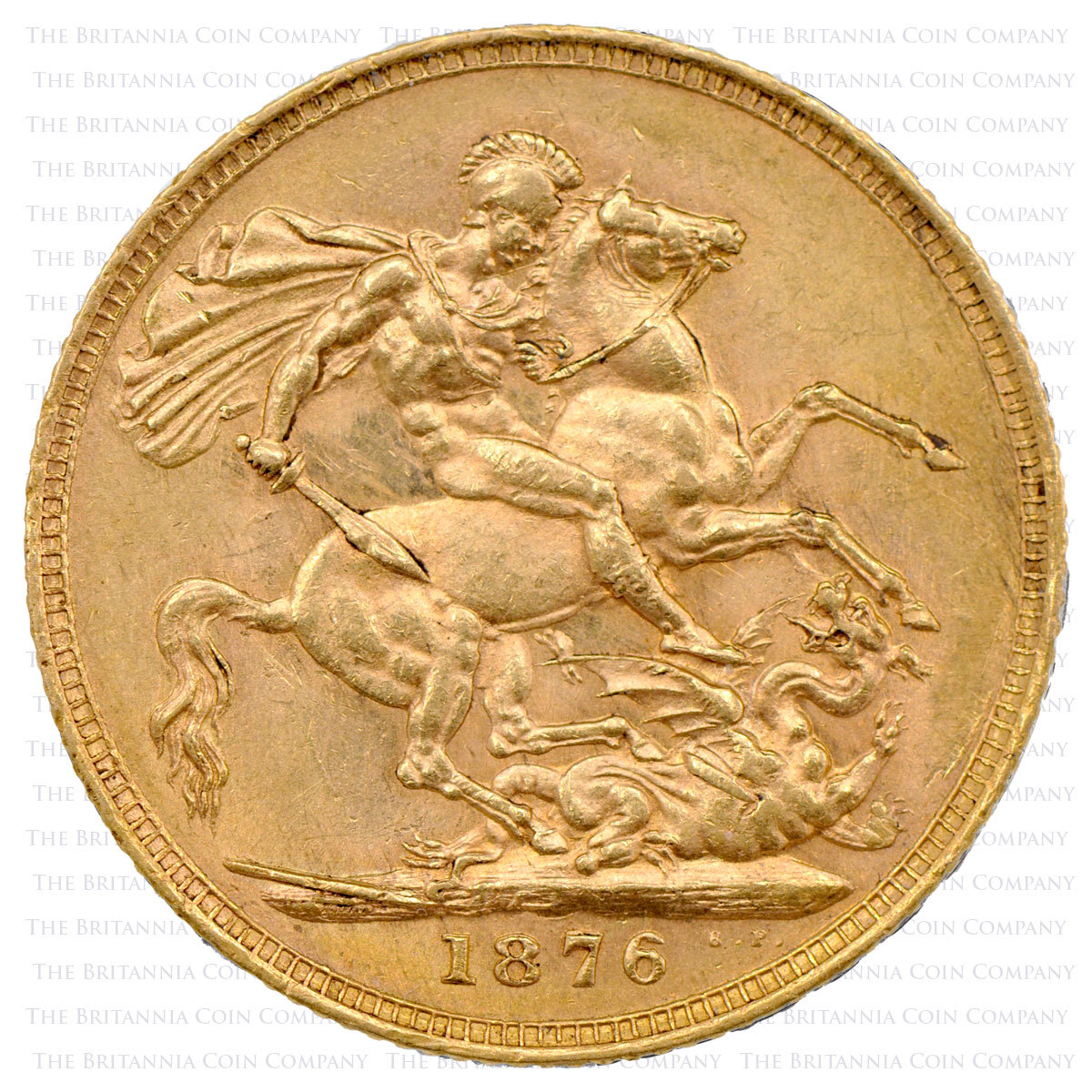 1876 Queen Victoria Gold Full Sovereign reverse