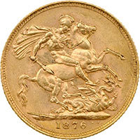1876 Queen Victoria Gold Full Sovereign @200 resolution