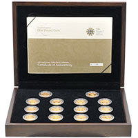 2008 One Pound Coin 25th Anniversary Gold Proof Collection