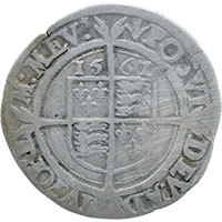 1562/1 Elizabeth I Hammered Silver Sixpence. Mm 'Pheon' Reverse