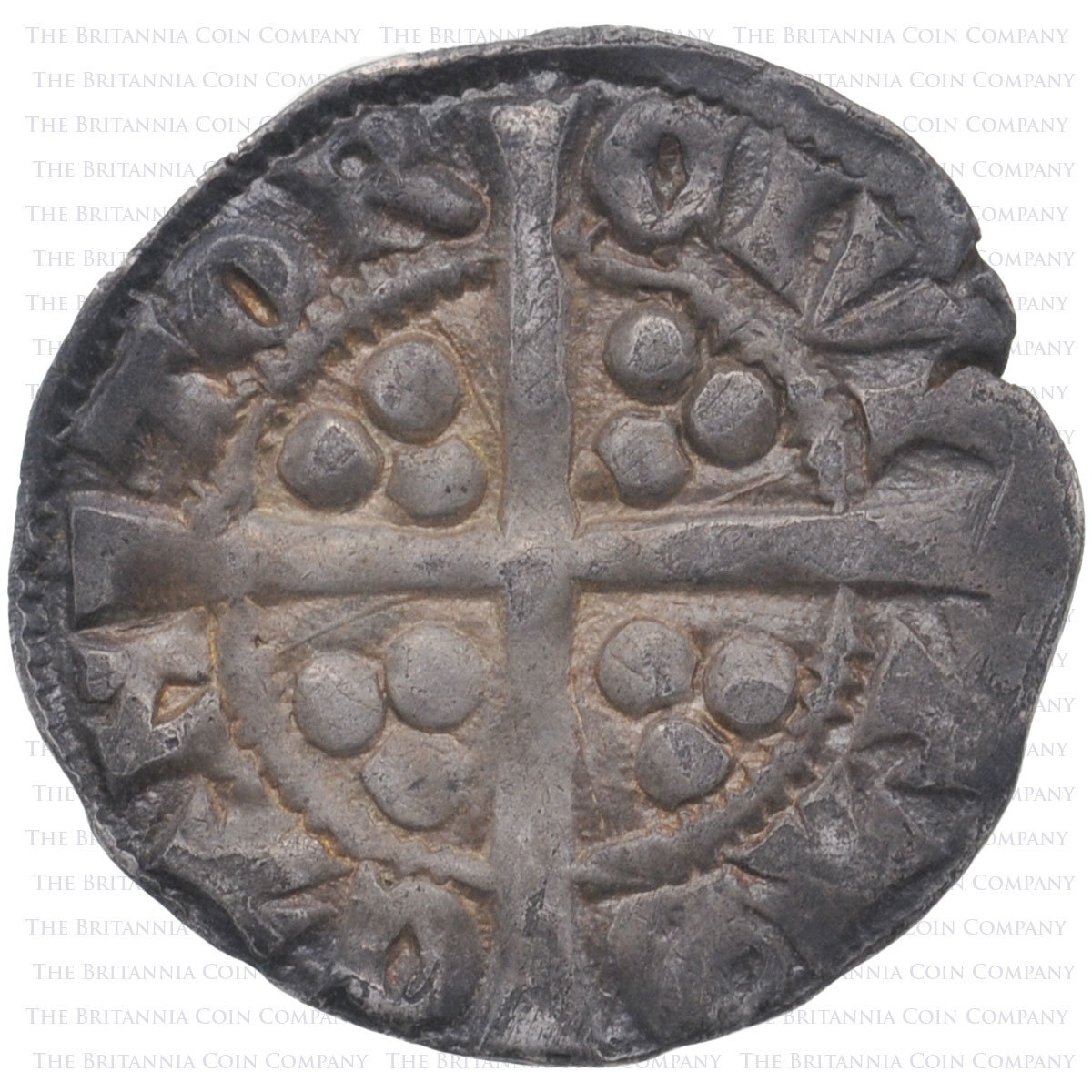 1279-1307 Edward I Hammered Silver Penny Canterbury Reverse