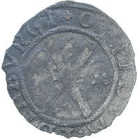 1542-58 SCOTLAND Mary Hammered Silver Bawbee Reverse