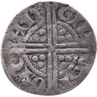 1247-79 Henry III Hammered Silver Penny Gilbert Canterbury Reverse