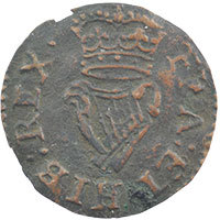 1614-25 James I 'Lennox' type Farthing mm 'Grapes'