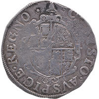 1634-5 Charles I Hammered Silver Shilling MM 'Bell' Reverse