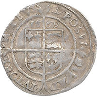 1569-Elizabeth-I-Hammered-Silver-Sixpence-MM-Crown-Reverse