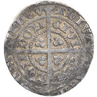 1351-61 Edward III Hammered Silver Halfgroat, London. Rare F/G mule