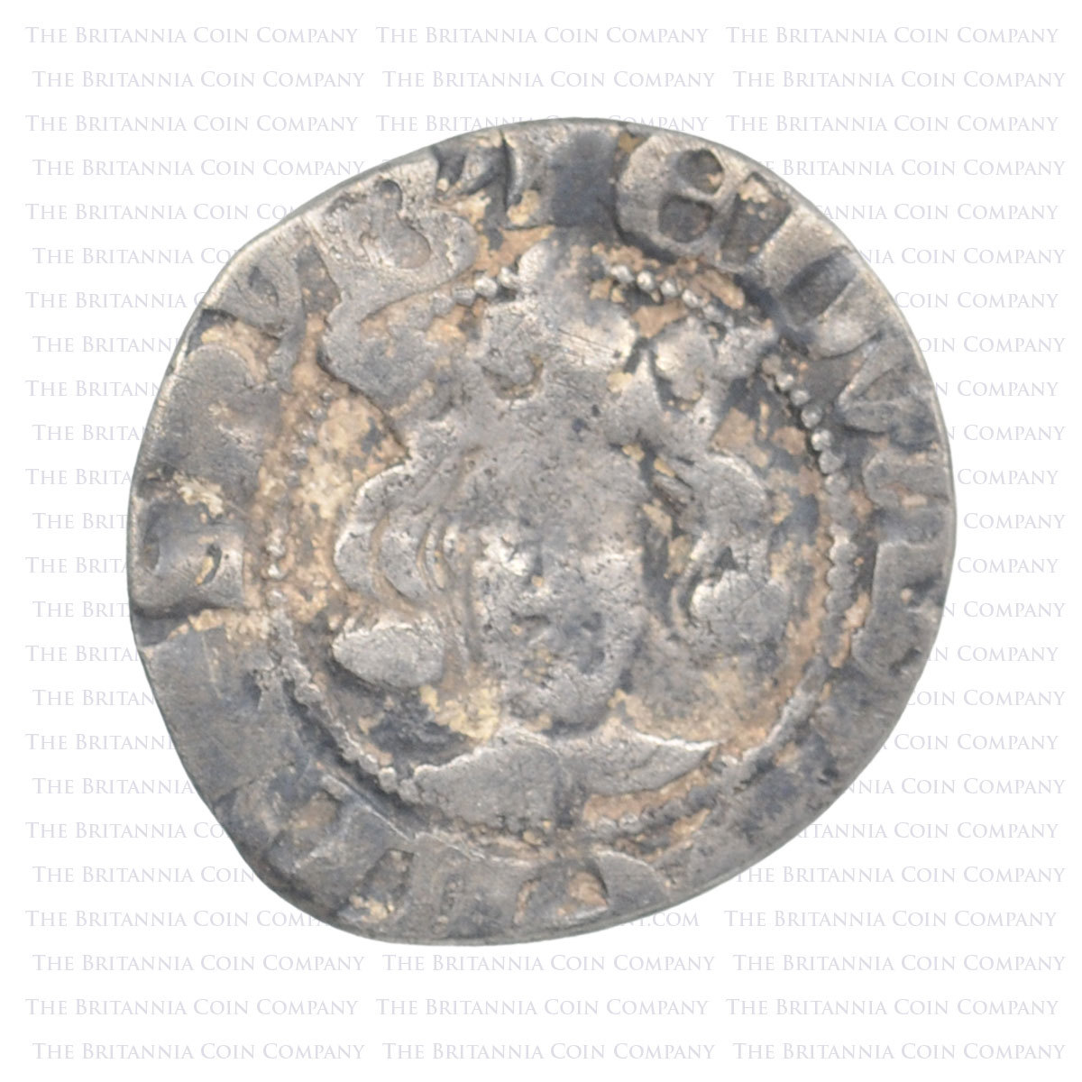 1327-77 Edward III Hammered Silver. London Obverse