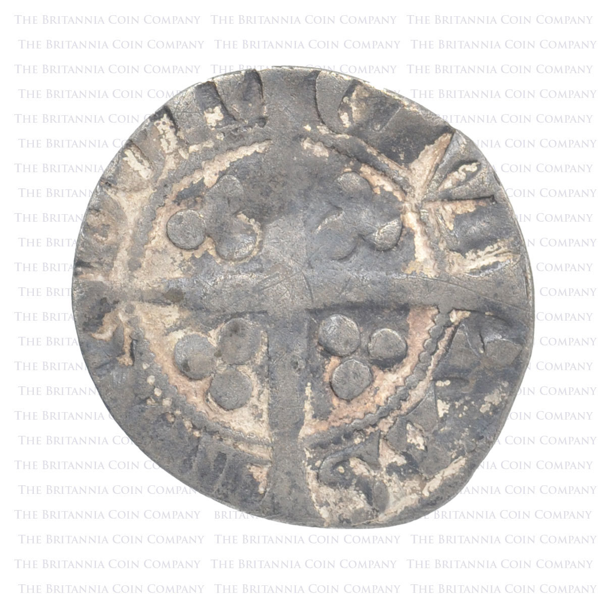 1327-77 Edward III Hammered Silver. London - Reverse