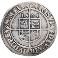 1561 Elizabeth I Hammered Silver Sixpence mm 'Pheon' Reverse @200