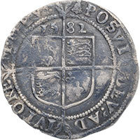1582 Elizabeth I Hammered Silver Sixpence mm 'Bell' Reverse @200