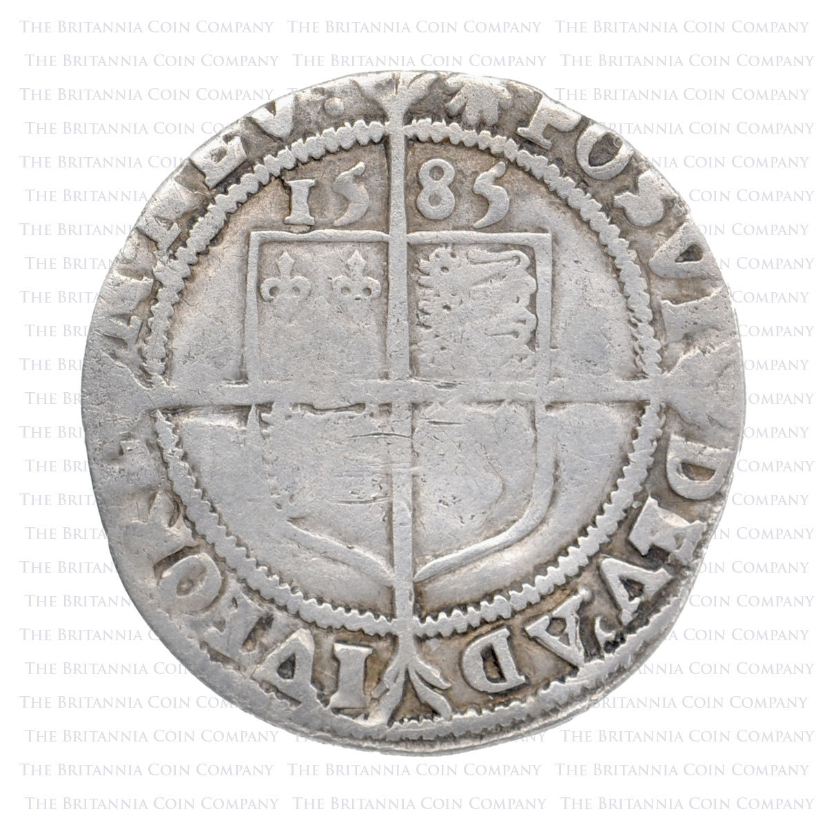 1585 Elizabeth I Hammered Silver Sixpence mm 'Escallop' Reverse