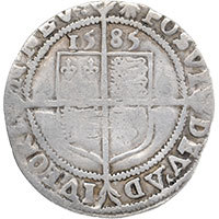 1585 Elizabeth I Hammered Silver Sixpence mm 'Escallop' Reverse @200
