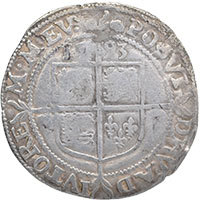 1593 Elizabeth I Hammered Silver Sixpence mm 'Tun' Reverse @200