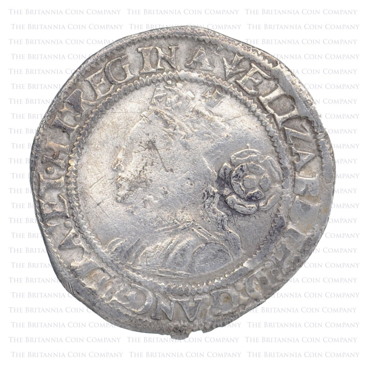 1561 Elizabeth I Hammered Silver Threepence MM 'Pheon' Obverse