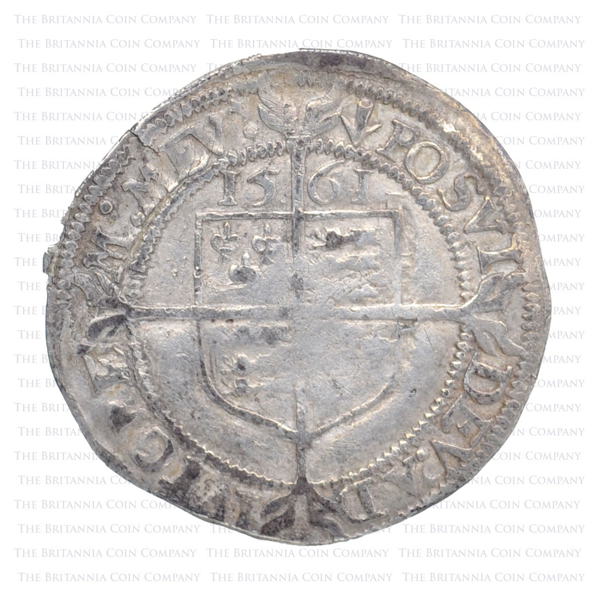 1561 Elizabeth I Hammered Silver Threepence MM 'Pheon' Reverse