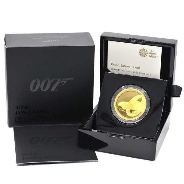 Royal Mint James Bond Two Ounce Gold Proof Coin