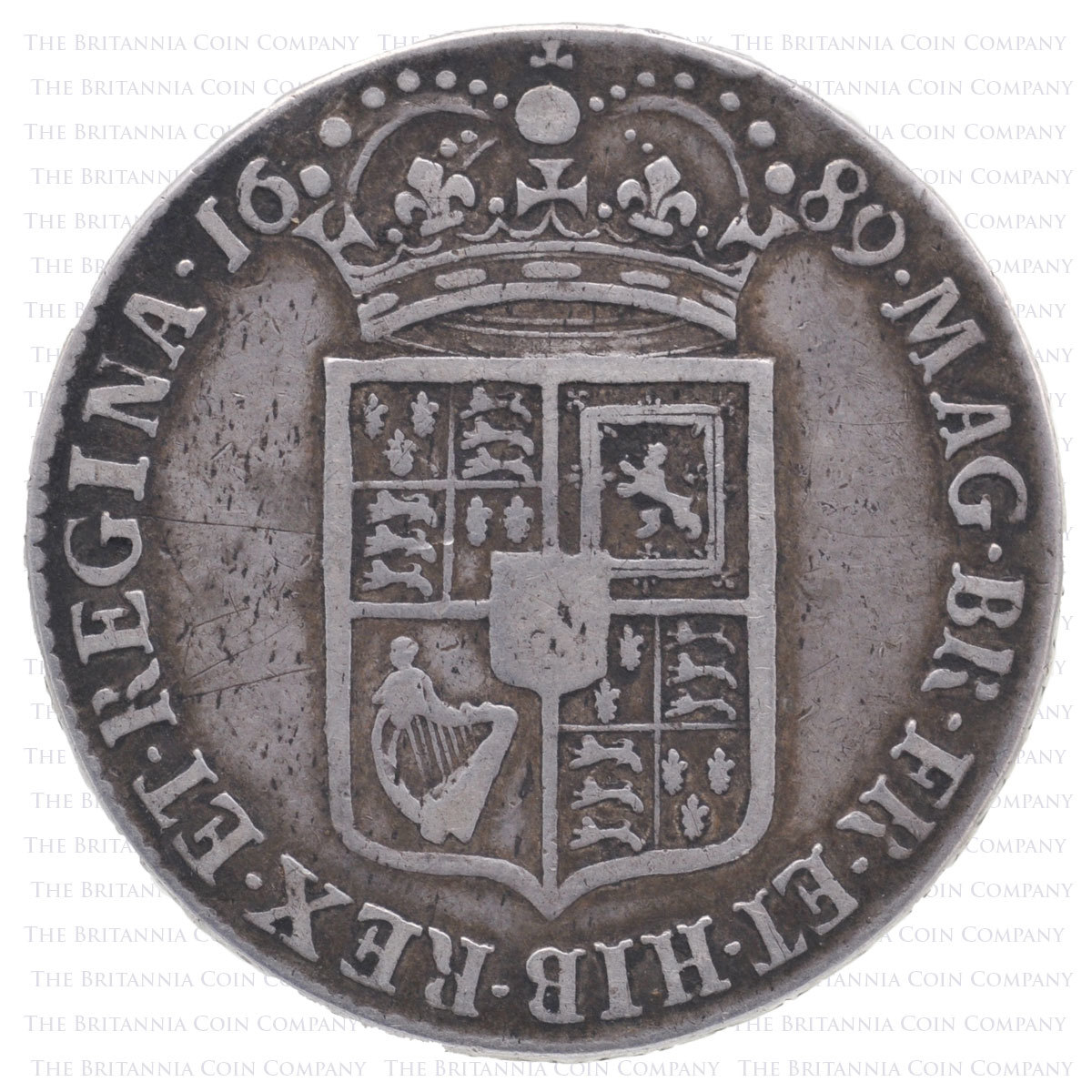 1689 William & Mary Halfcrown