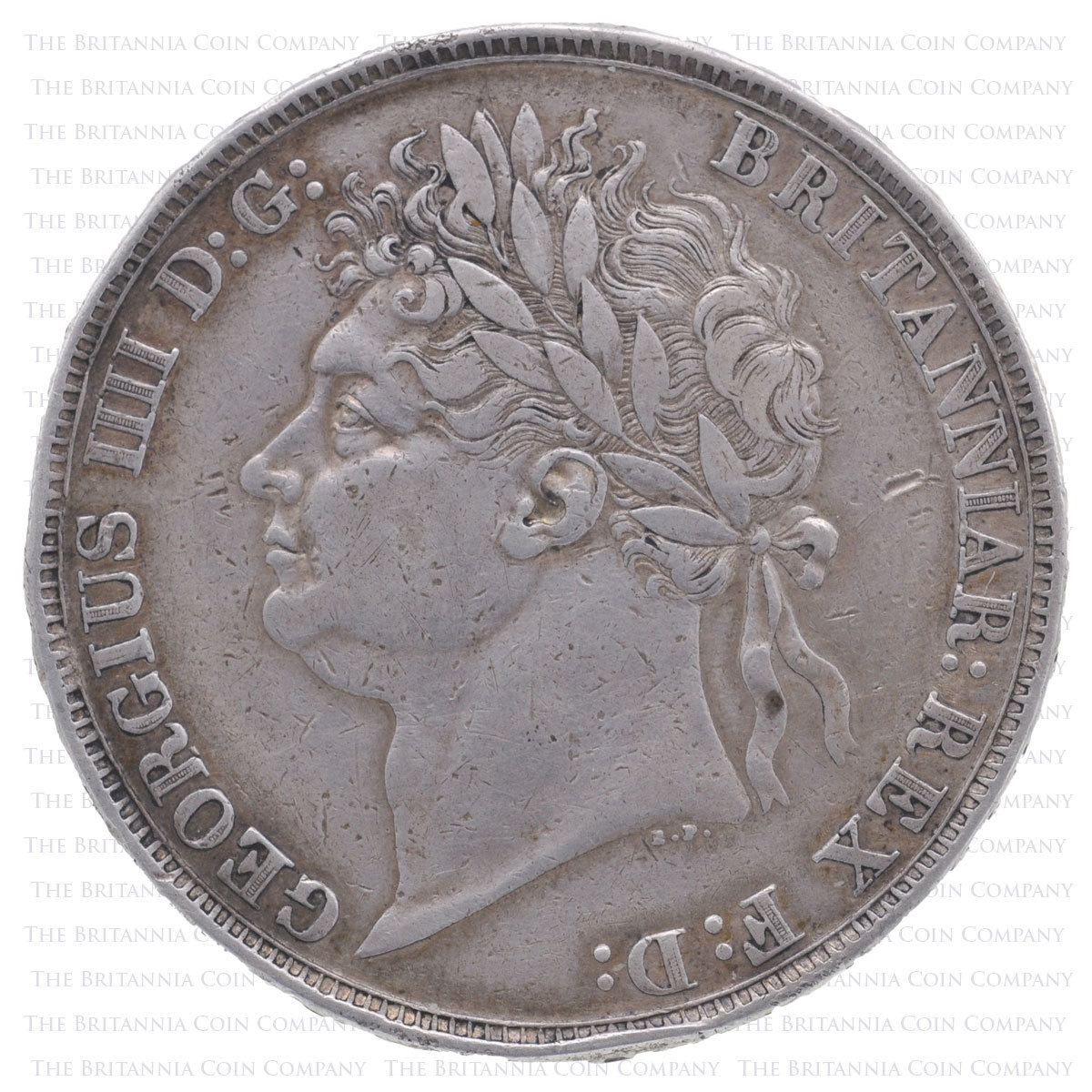 1821 George IV Silver Crown SECUNDO