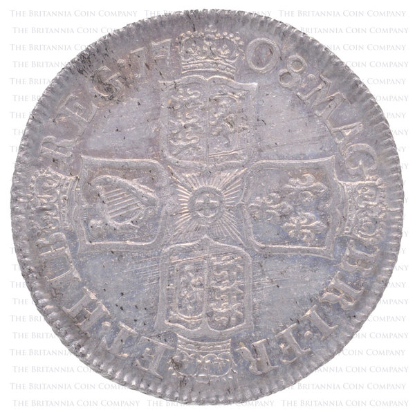 1708 Queen Anne Silver Shilling