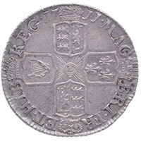 1711 Queen Anne Silver Sixpence