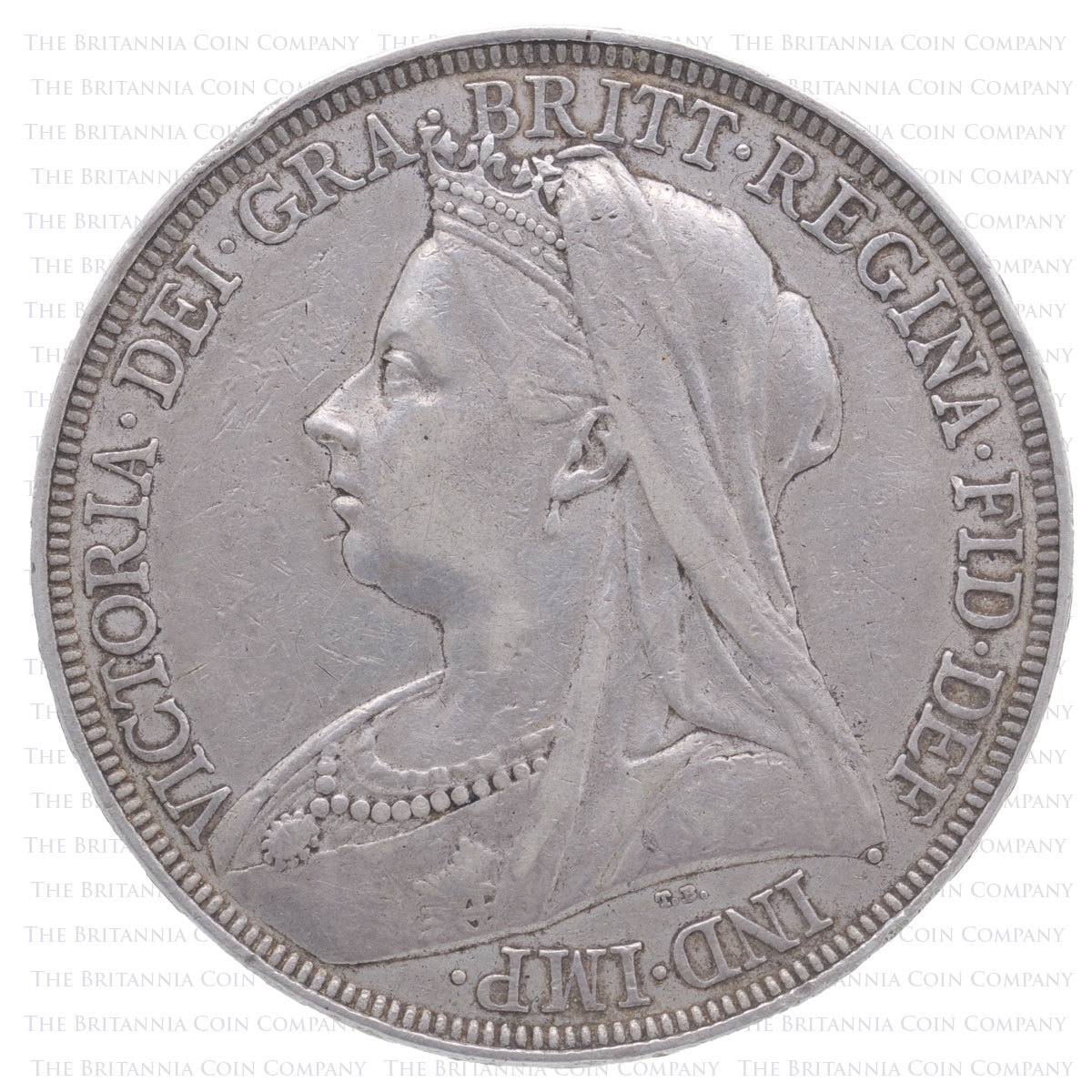 1897 Queen Victoria Silver Crown LXI Obverse