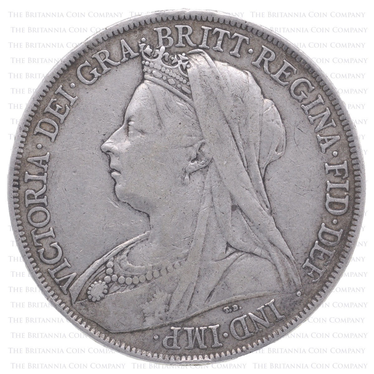 1900 Queen Victoria Silver Crown LXIV Obverse