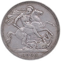1900 Queen Victoria Silver Crown LXIV Reverse