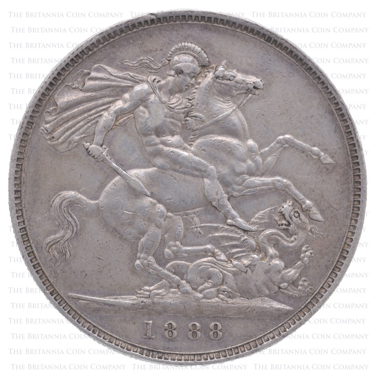 1888 Queen Victoria Silver Crown 'wide date' Reverse
