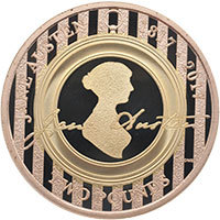2017 Jane Austen Gold Proof £2