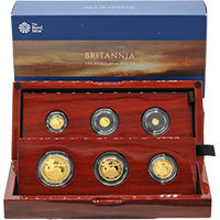 2019 Britannia UK Premium Six-Coin Gold Proof Set