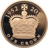 2015 UK £5 Gold Proof : The Longest Reigning Monarch
