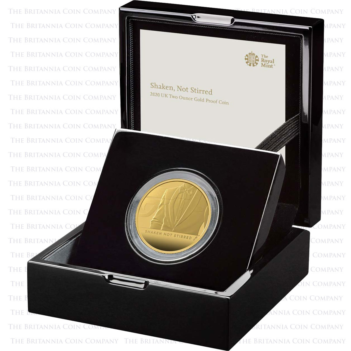 Royal Mint Shaken Not StirredShaken Not Stirred 2020 UK Two-Ounce Gold Proof Coin