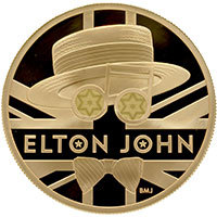 Elton John Music Legends 2 Ounce Gold Proof