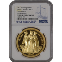 NGC PF70 Three Graces 2oz Gold