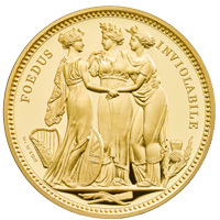UK20WW5G : Three Graces Five Ounce Gold Proof