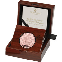 The 95th Birthday of Her Majesty the Queen : 2021 UK £5 Gold Proof