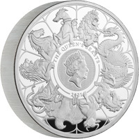 The Queen's Beasts Completer Coin : 2021 Ten Ounce Silver Proof
