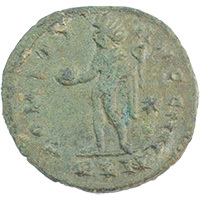 AD 307-337 Constantine I (The Great) AE Follis London mint Reverse