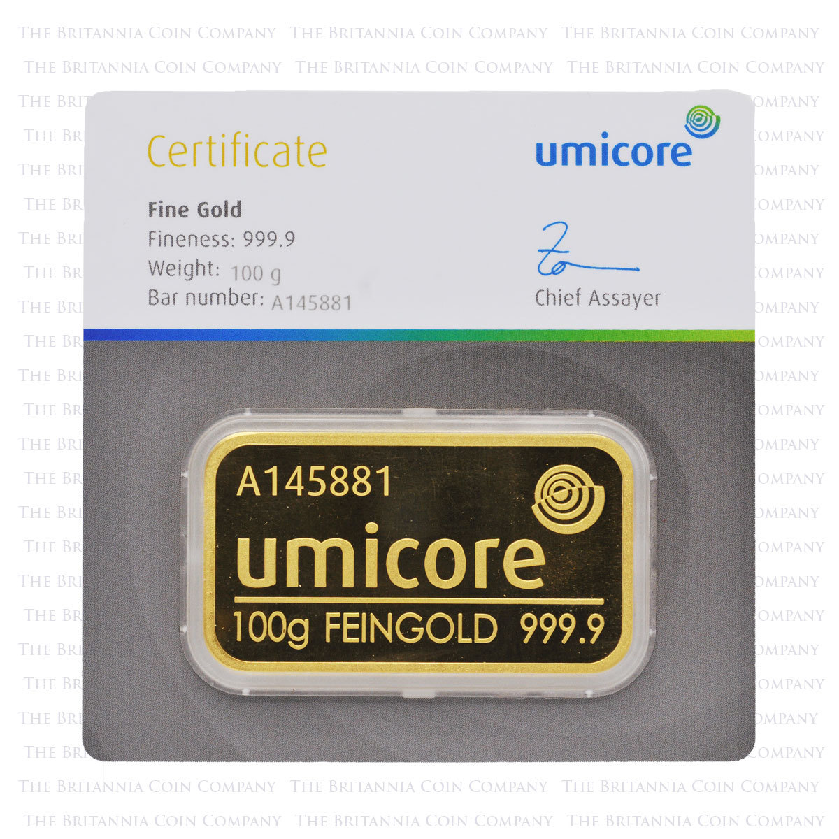 Umicore 100g Gold Bar