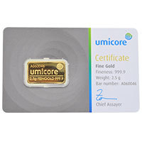 Umicore 2.5g Gold Bar